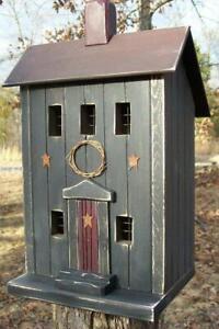 Primitive-Saltbox-Saltbox-Primitive-Birdhouse-Primitive-Decor-Primitives