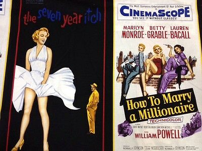 RK13 Marilyn Monroe Movie Poster Sexy Hollywood PNL Cotton Fabric Quilt Fabric