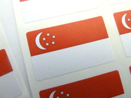 Mini Sticker Pack Self-Adhesive Singapore Flag Labels FR228