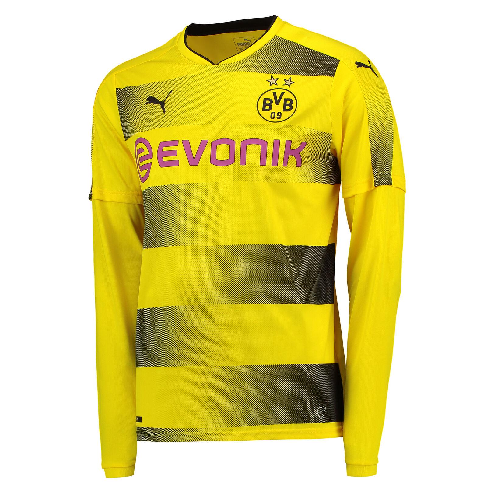 BVB Borussia Dortmund Heim Shirt Sportshirt Herren Oberteil 2017/18 Langarm Herren Sportshirt Puma f06267