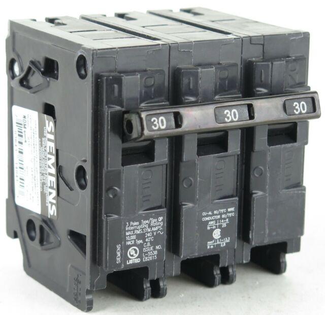 Siemens Q330 Circuit Breaker 30A 240V