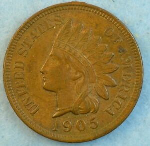 1905-Indian-Head-Cent-Penny-Very-Nice-Old-Coin-LIBERTY-Fast-S-amp-H-421
