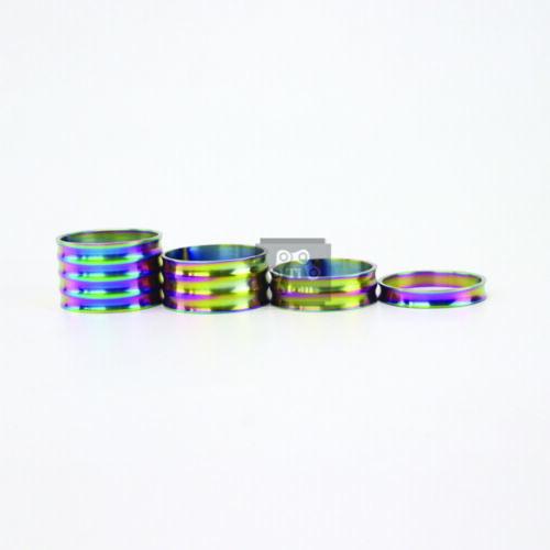 Ti Atom Titanium Concave-convex surface Headset Spacers 5-10-15-20mm