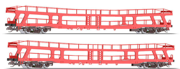 Tillig TT scale Set of 2 Automobile transport cars Czech railways