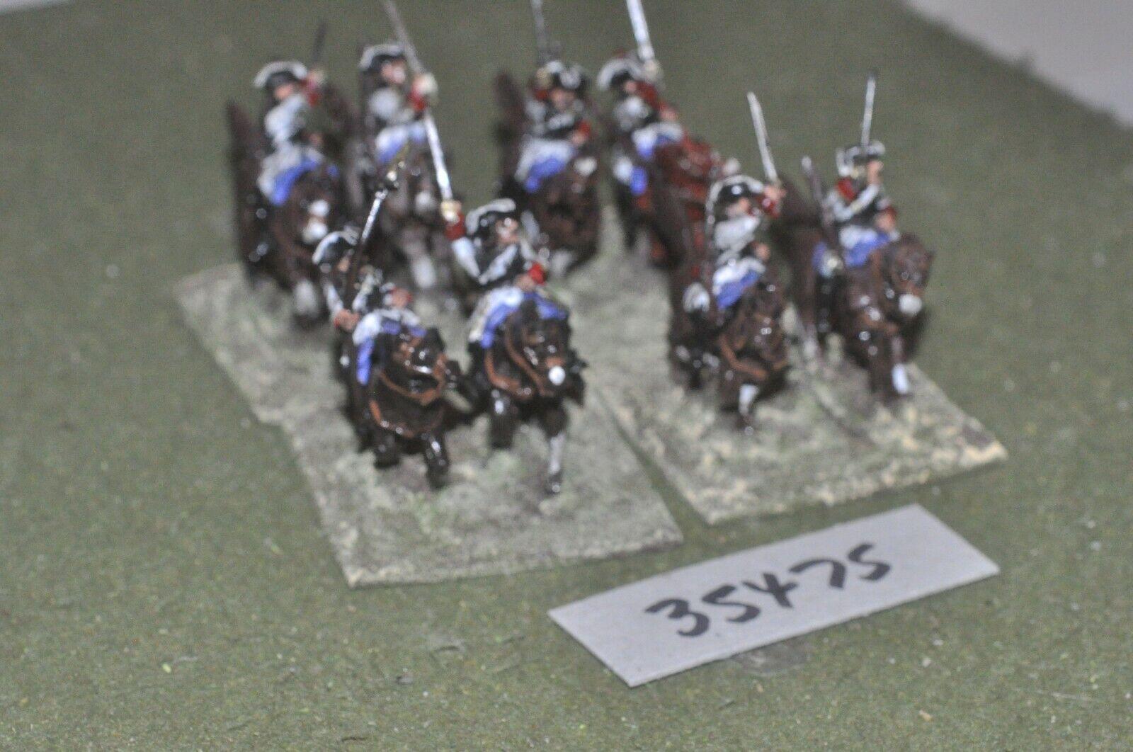 25mm marlburian   french - cuirassiers 8 figures - cav (35475)