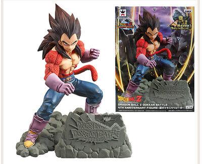 Dragon Ball Z Dokkan Battle 4th Anniversary Figure Super Saiyan 4 Vegeta JAPAN