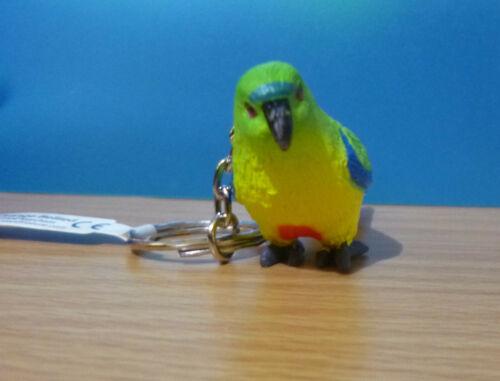 ORANGE BELLIED PARROT AUSTRALIAN BIRD SOUVENIR GIFT KEYCHAIN KEY RING Size75mm