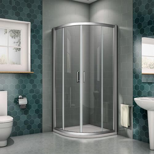 Offset Quadrant Shower Enclosure Corner Cubicle 6mm Easy Glass Door Stone Tray