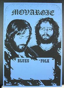 Monargle (?) Groupe De Blues Rock 1975 By Gapin Poster Concert