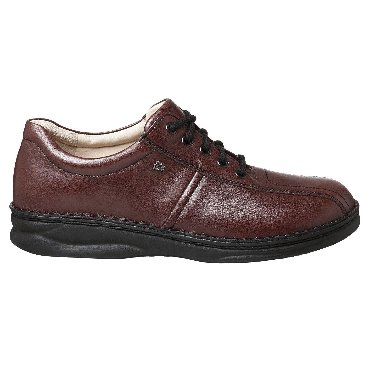 Finn Comfort Schuhes Mens Dijon Braun Leder Schuhes Comfort 44517c
