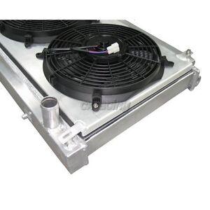 Fit 86-92 Supra Jza70 Manual MT Racing Aluminum Radiator Shroud Cooling Fan Kit