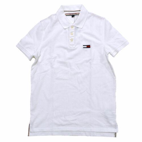 Tommy Hilfiger Mens Polo Shirt Logo Short Sleeves Mesh Classic Custom Slim Logo