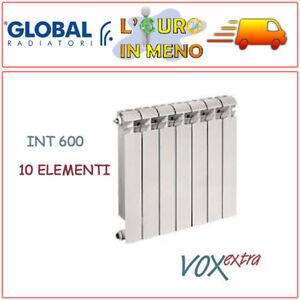 GLOBAL Vox Extra TERMOSIFONE Radiatore Elementi In ALLUMINIO 600 mm 9 Elementi