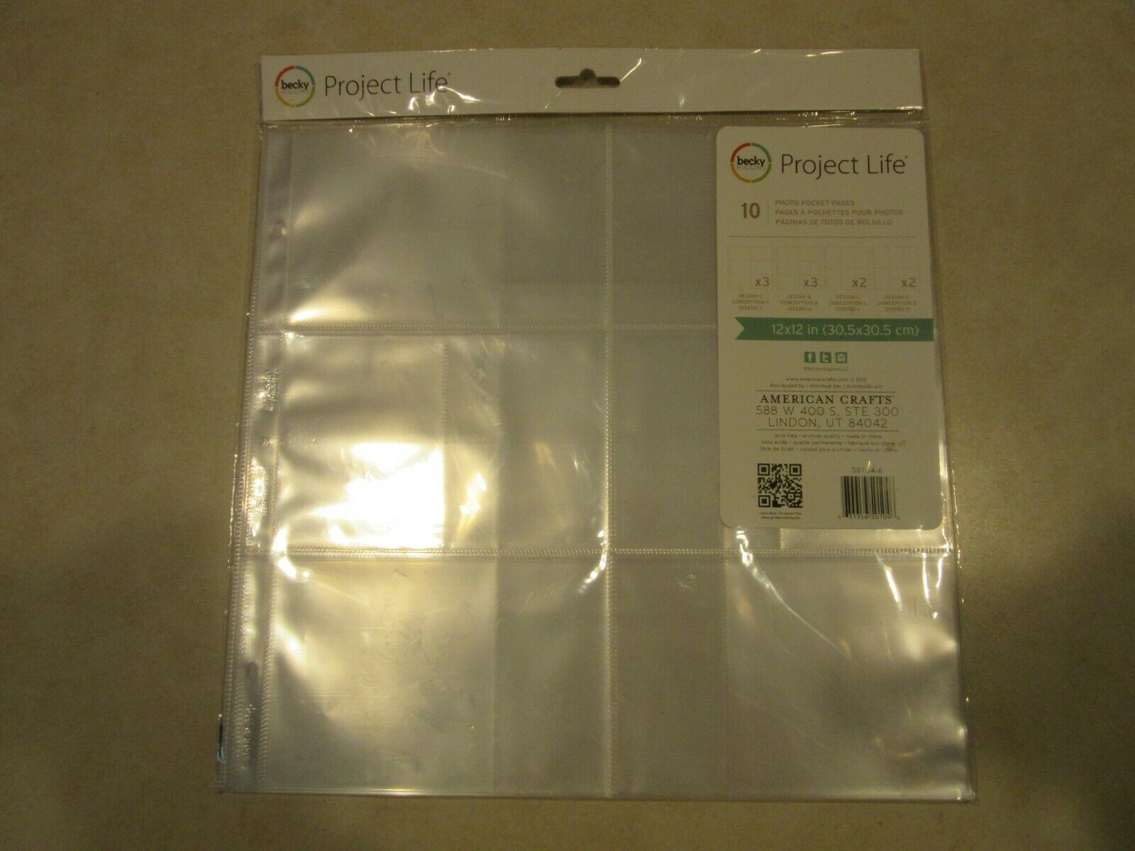 Project Life Big Envelope Pages 6X6 5//Pkg 1-Pack 380028 Bundled with Artsiga Crafts Small Project Bag