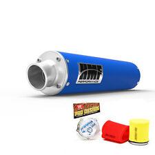 HMF Performance Slip On Exhaust Muffler Blue Pro Design Foam Filter Raptor 700