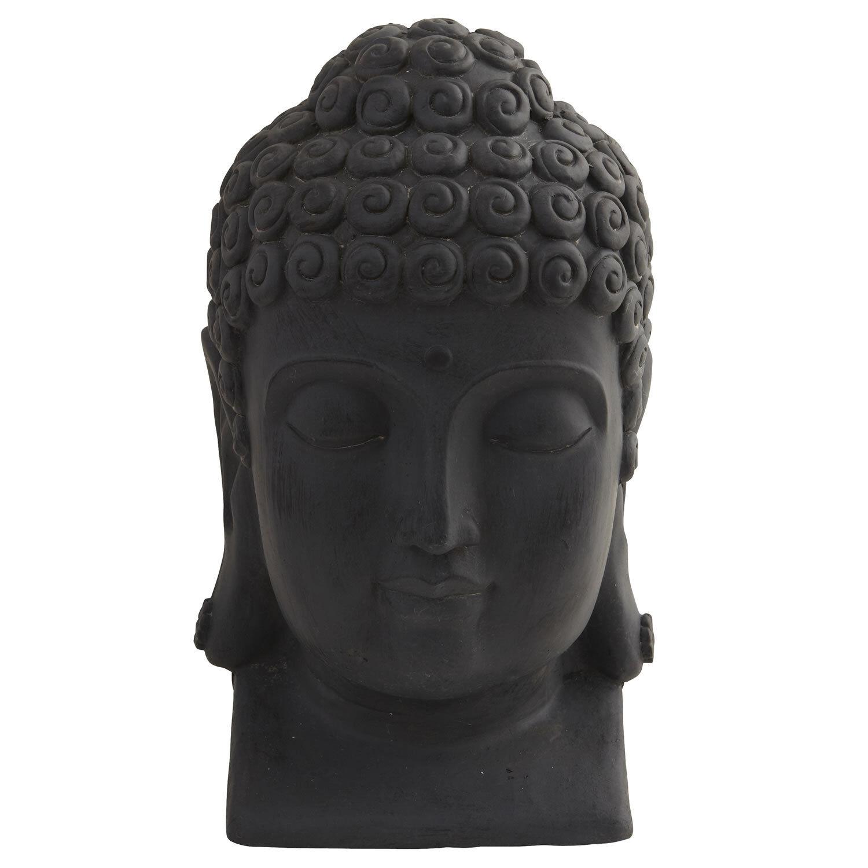 Cabeza De Buda Hecha A Mano Casa Accesorio pieza de acento Interior Exterior 12  de alto