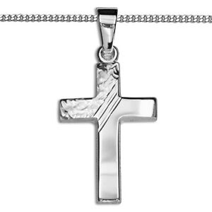 Kommunion Taufe Firmung Schmuck Kreuz Anhänger mit Kette Silber 925 Kinder Erst
