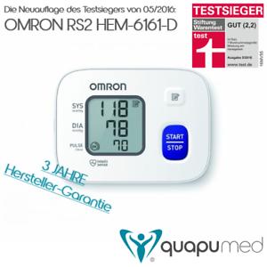 TESTSIEGER - OMRON RS2 (HEM-6161-D) Automatisches Handgelenk-Blu