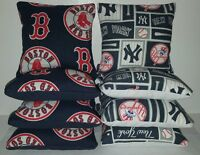 Set Of 8 All Weather Yankees/red Sox Cornhole Bags Free Shipping