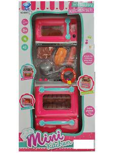 Mini cuisine jouets filles jeu de rôle semblant Cook Set Créatif Mon Happy Kitchen Set