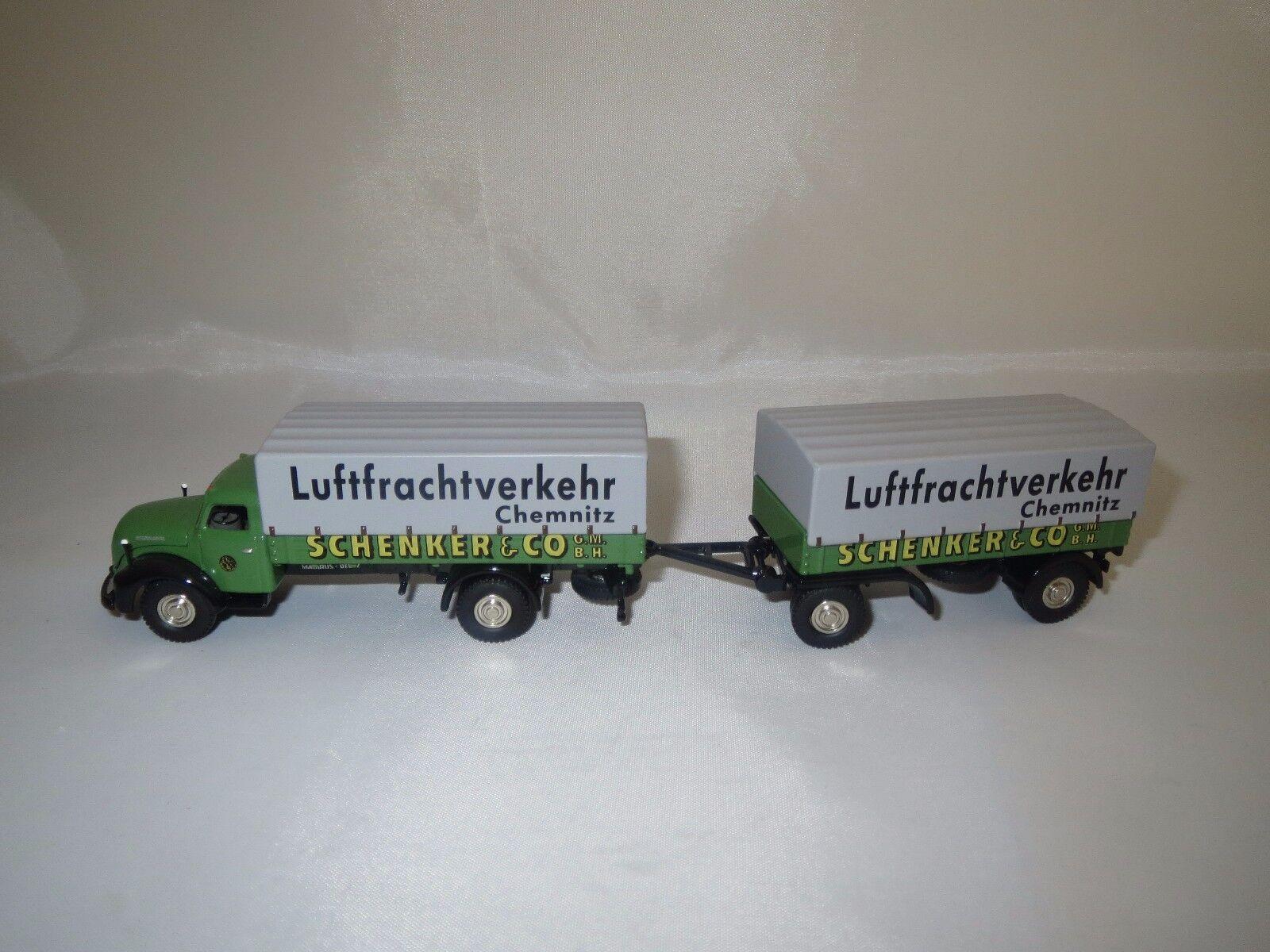 Bouèbe magirus-deutz s6500  Schenker transporte Chemnitz  1 87 NEUF dans sa boîte