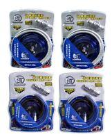 (2) Bullz Audio Epak4bl 4 Gauge Amplifier/amp Wiring Kit + (2) Epak8bl Amp Kits