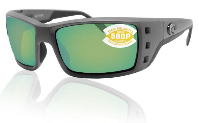 NEW Costa Del Mar PERMIT Matte Gray /& 580 Green Mirror Plastic 580P