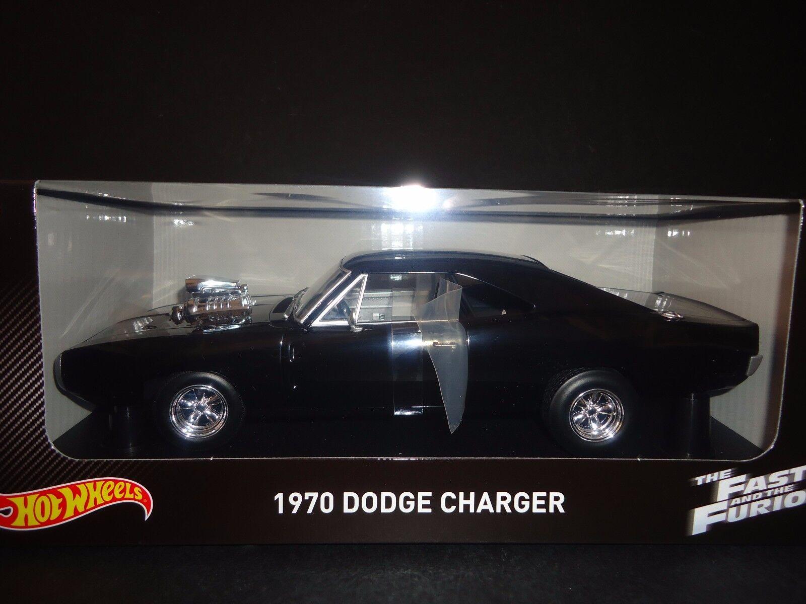Hot Wheels Dodge Charger 1970 de Dom Cargador Fast And Furious 1 18 Cmc97