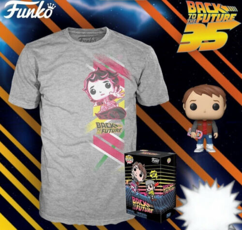 Funko Vinyl Pop Figure /& XL Back To The Future Tee Marty McFly T Shirt NEW 2020