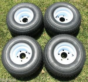 NEW Set Of 4 Tires and 5 LUG Wheels For Golf Cart Carts Taylor Dunn Ezgo Gas Golf Cart For Sale Near Me Drawings Of Carts Pinterest on