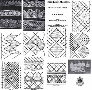 Pillow Lace Book Patterns Bobbin Laces Pattern 1906 Ebay