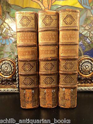 1720 1st ed BIBLE of Calmet / Holy Land Maps Jewish Judaica Plates 3v Large SET