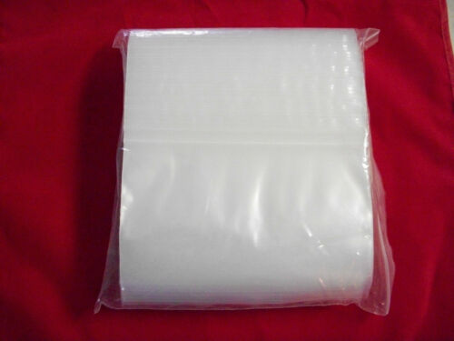 """100 new zip lock worm bags REGULAR POLY for soft plastic baits  6/"""" x 4/""""  4 MIL"""