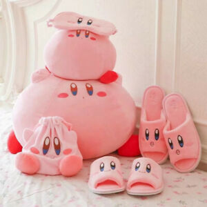 Kirby-Adventure-Plush-Toy-Patch-Plush-Slipper-Doll-Staffed-Cushion-Pillow-Gift