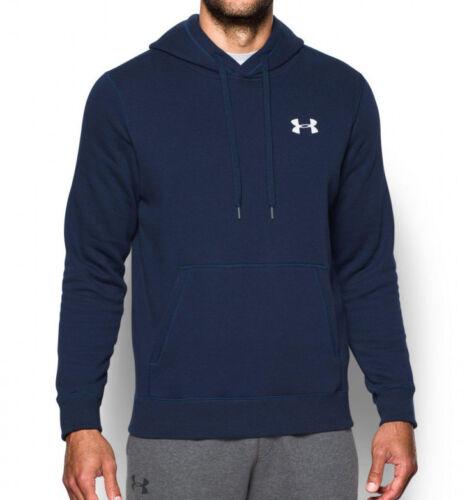 Under Armour Men/'s Rival Fleece Hoodie Sweatshirt Shirt Navy 1302292 Medium New
