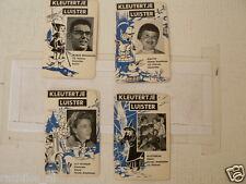 KLEUTERTJE PETERSEN,BROEKHUIZEN,AVRO VINTAGE PLAYING CARD 4 CARDS ONLY