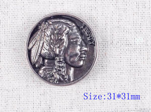 5pcs-1-1-4-034-Supper-Quality-Antique-Silver-Nickel-Indian-Head-Screw-Back-Concho