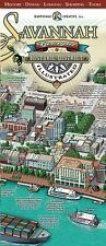 Savannah Historic District Illustrated Map : Birds-Eye-View 3D Pictorial Map by Michael Karpovage (2012, Illustrated)