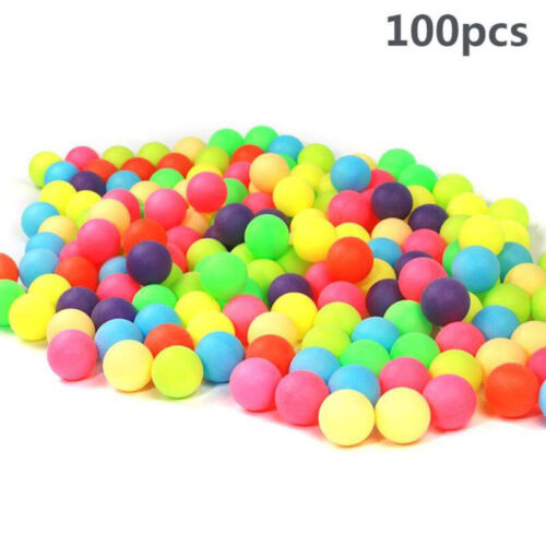 100pcs Colored Ping Pong Balls Group Fun Games PP Entertainment Table Tennis
