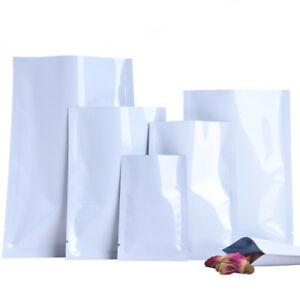 White-Aluminum-Foil-Bags-Heat-Seal-Mylar-Food-Storage-Vacuum-Pouches-Packaging