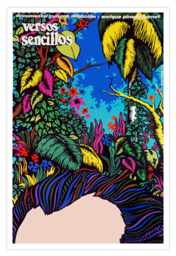 Cuban movie Poster for VERSOS Sencillos.Jose Marti.Cuba.Book for Children.Kids