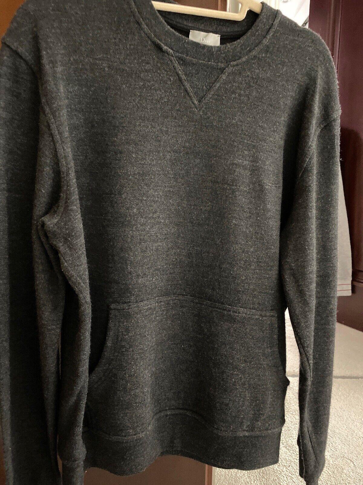 Genuine Dior Mens Charcoal Grey Sweatshirt Size 52