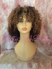 Ombre Curly Afro Wig