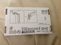Set Of 2 Ikea Betydlig Wall Or Ceiling Curtain Rod Brackets Steel Black Adjustab on sale