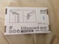 Set Of 2 Ikea Betydlig Wall Or Ceiling Curtain Rod Brackets Steel Black Adjustab on sale