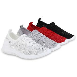 Details zu Damen Sportschuhe Strass Laufschuhe Fitness Sneaker Strick 830943 Schuhe