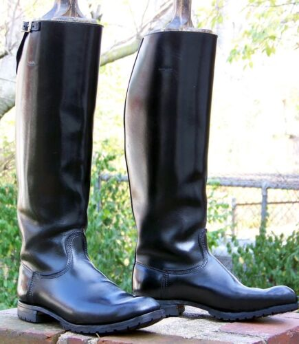 Combat Motorcycle Tall 5 Biker Boot Uk Leather Police Black Men's 12 Patrol SAET5w5q