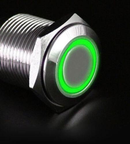 16mm 12V LED Druckknopf Druckschalter Push Button ON//OFF für Auto wasserdicht