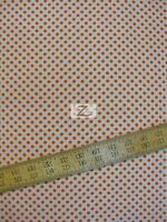 Polka Dots Orange Dots On White 100% Cotton Fabric - 45 W Sold Bty Fh-48