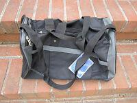 Gemline Duffle Sport Bag Black Grey Expandable 19l X 10.75h X 9.5w Sty. 4514